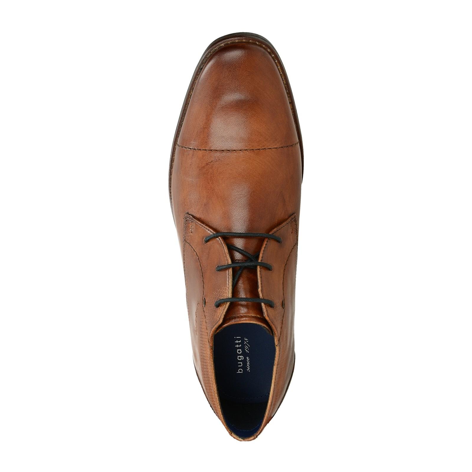 73f1bcec7986 Bugatti pánske kožené spoločenské topánky - koňakové ...