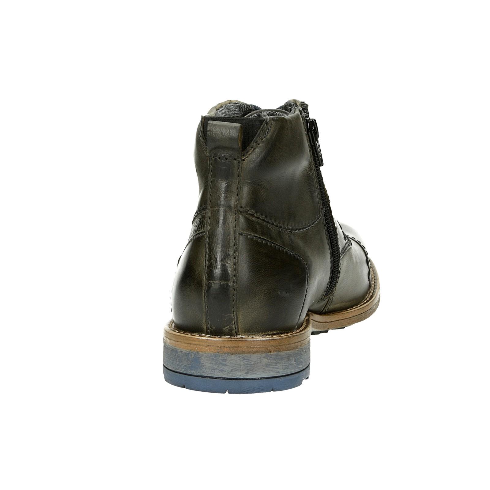 2870bc8e074d ... Bugatti pánska kožená členková obuv - šedá ...
