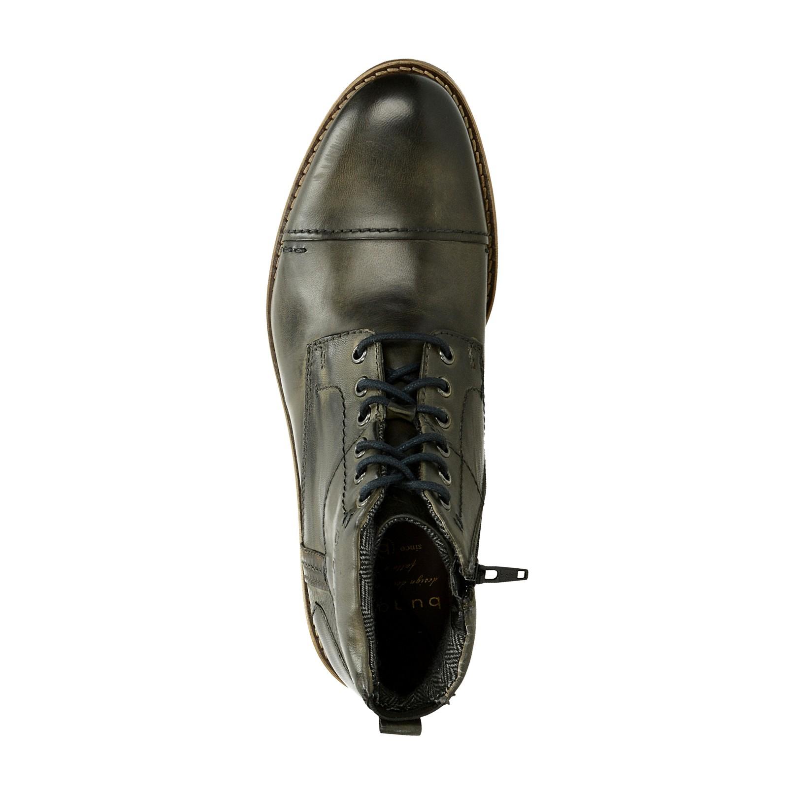 7745dff768d Bugatti pánska kožená členková obuv - šedá ...