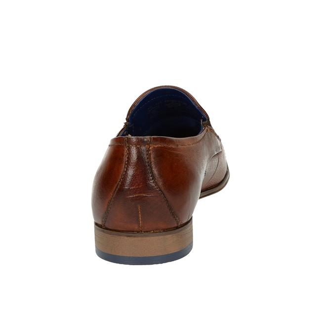Bugatti pánske kožené poltopánky - koňakové