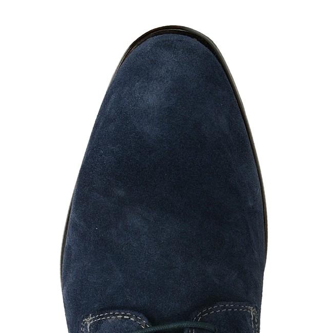 Bugatti pánske štýlové semišové poltopánky - modré