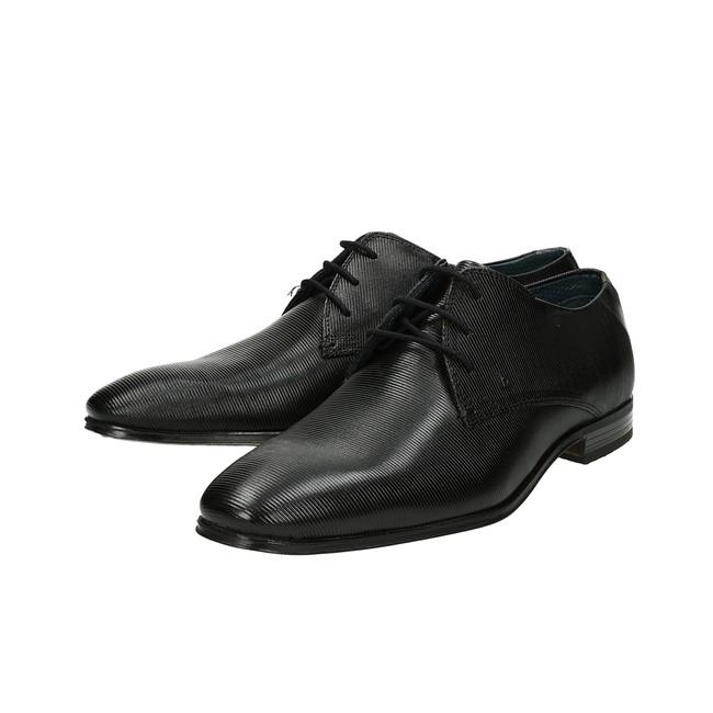 b15a33fd3d ... Bugatti pánske kožené spoločenské topánky - čierne ...