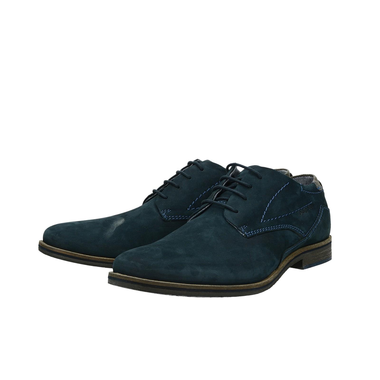 3a5dd5cde Bugatti pánske nubukové spoločenské topánky - tmavomodré   312-17304 ...