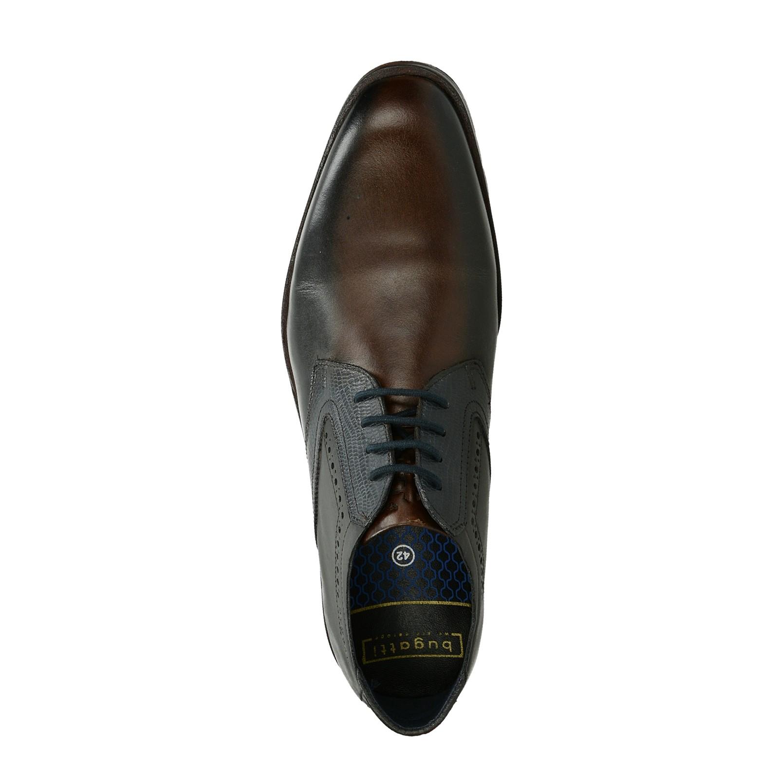 44b16cfa9b38 Bugatti pánske kožené spoločenské topánky - tmavohnedé ...