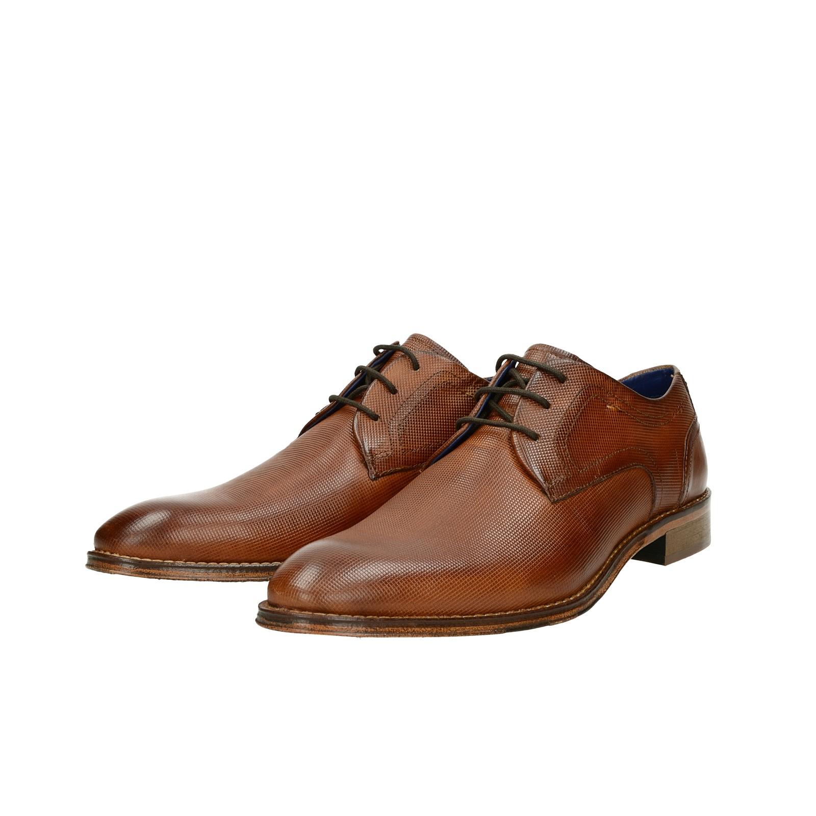 f921b4b80 Bugatti pánske kožené spoločenské topánky - koňakové   312-52902 ...