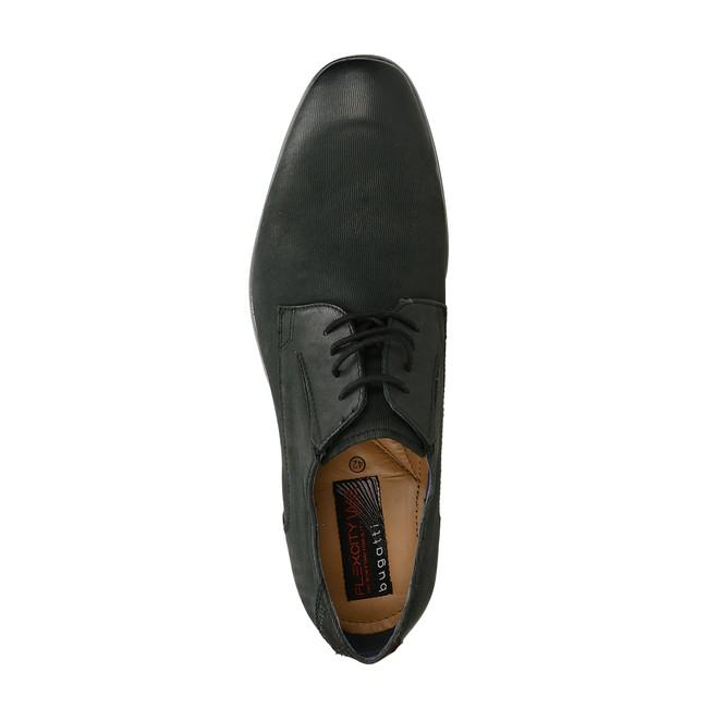 Bugatti pánske kožené spoločenské topánky - čierne
