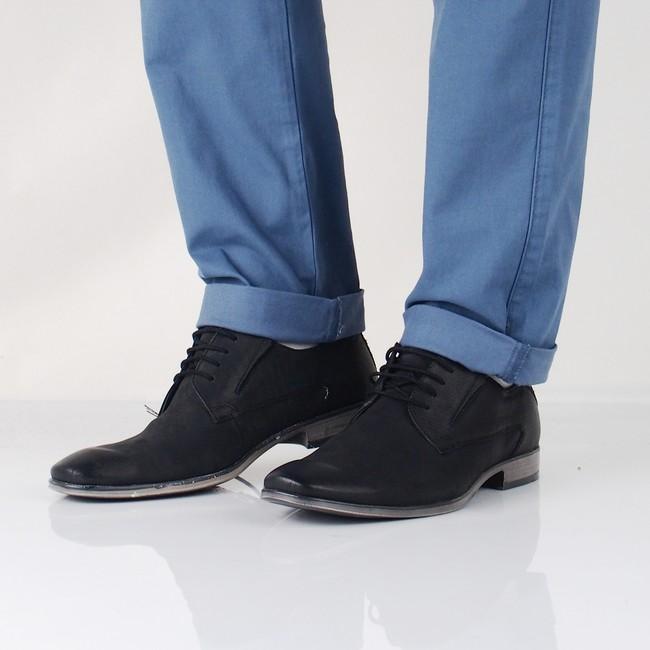 873726510a796 Bugatti pánske kožené spoločenské topánky - čierne | 312402041500 ...
