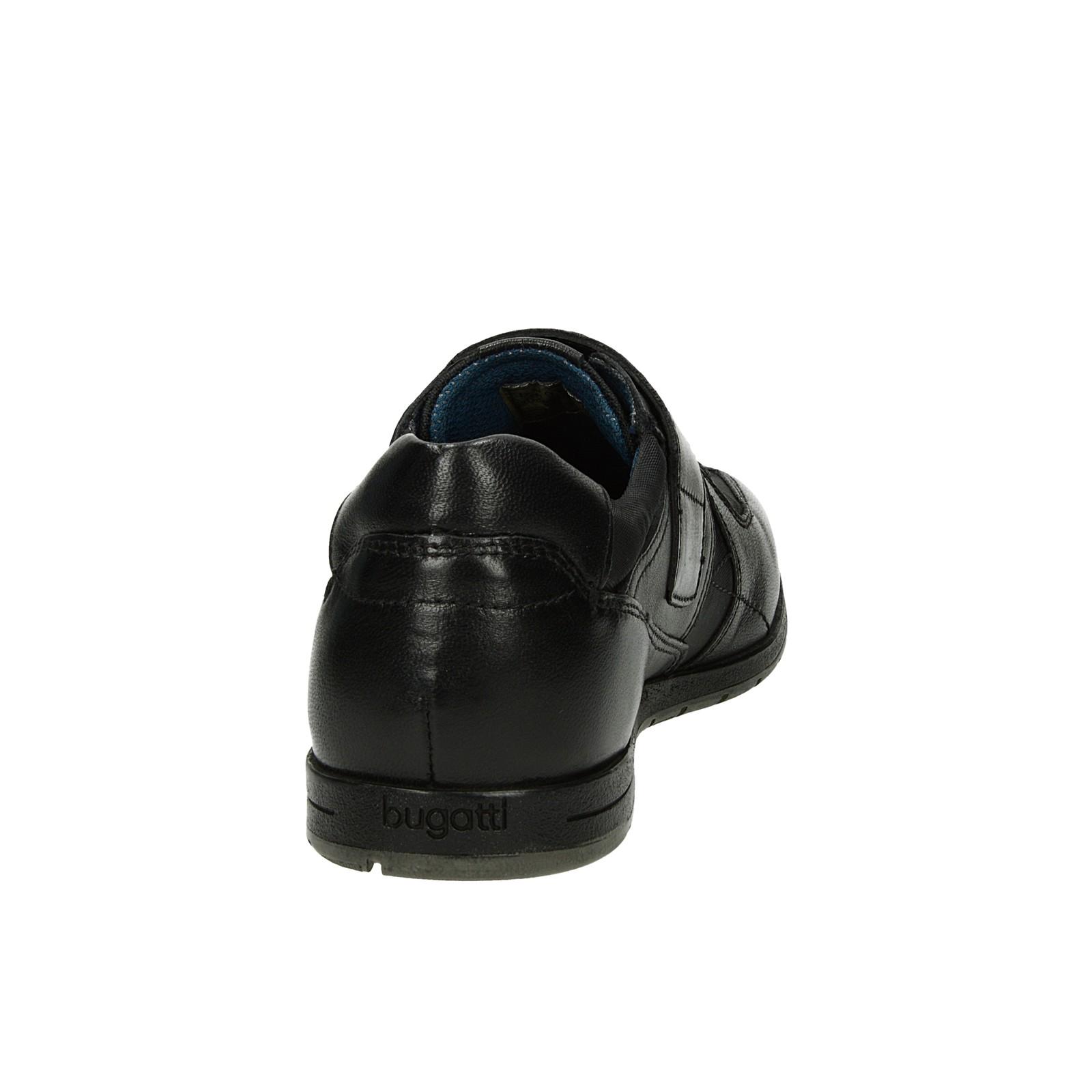 382e52b0c7149 Bugatti pánske pohodlné tenisky na suchý zips - čierne | 313-14060 ...