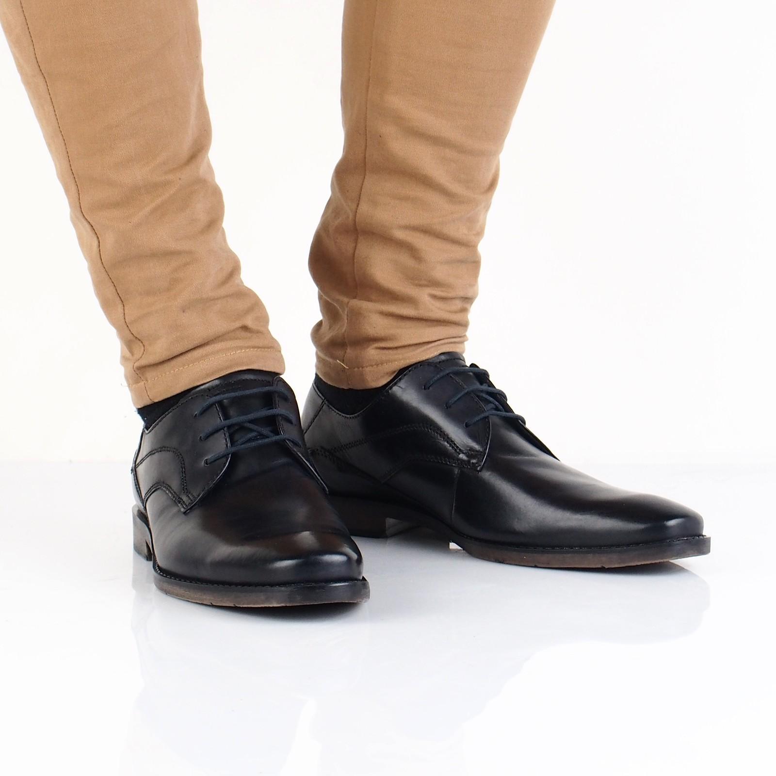 bf90c0d1f0 Bugatti pánske kožené spoločenské topánky - čierne ...