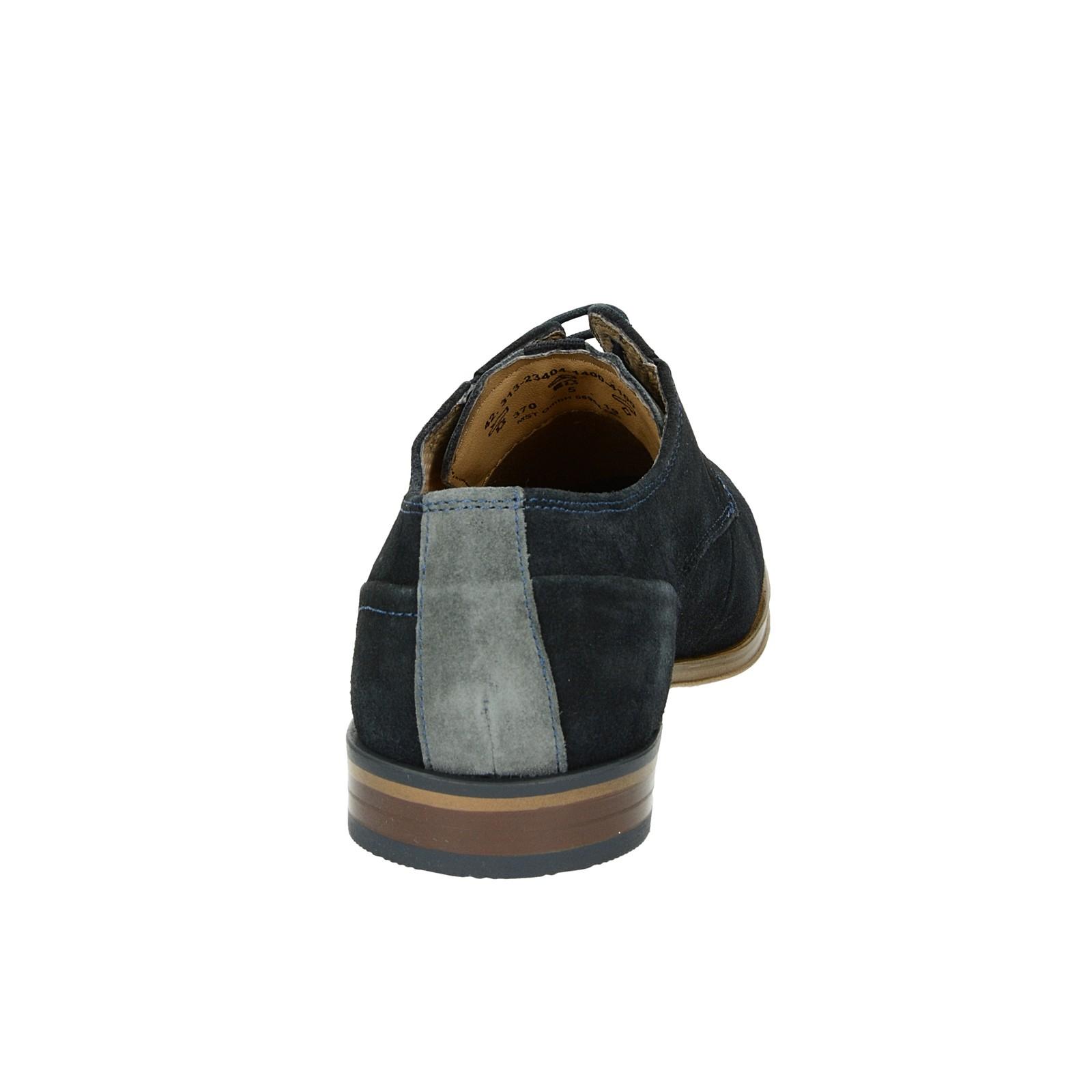b62bea490 Bugatti pánske semišové spoločenské topánky - tmavomodré   313-23404 ...