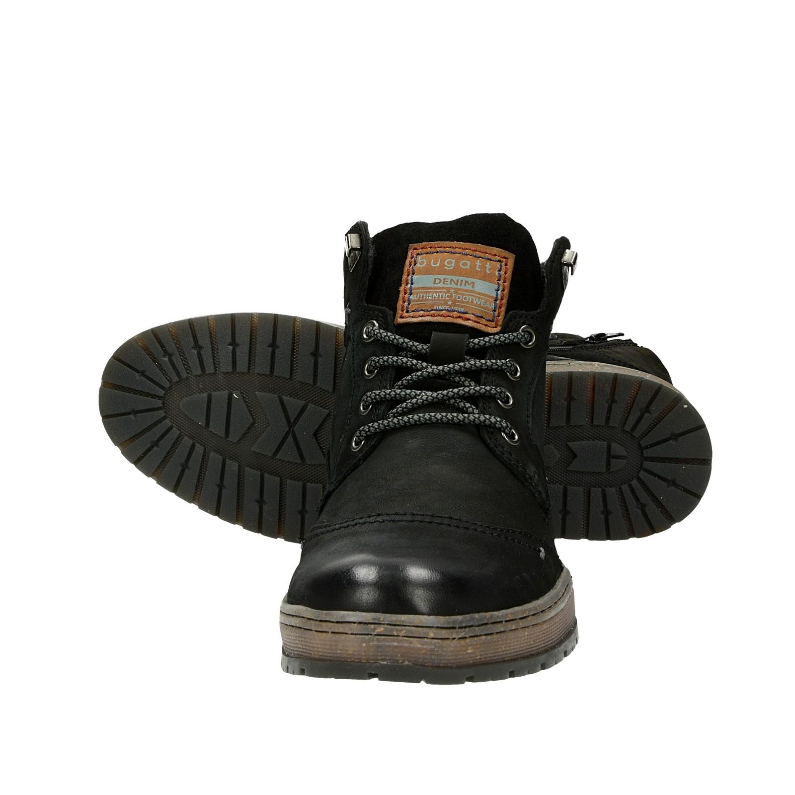 ... Bugatti pánska nubuková členková obuv - čierna ... 157cd5089f3
