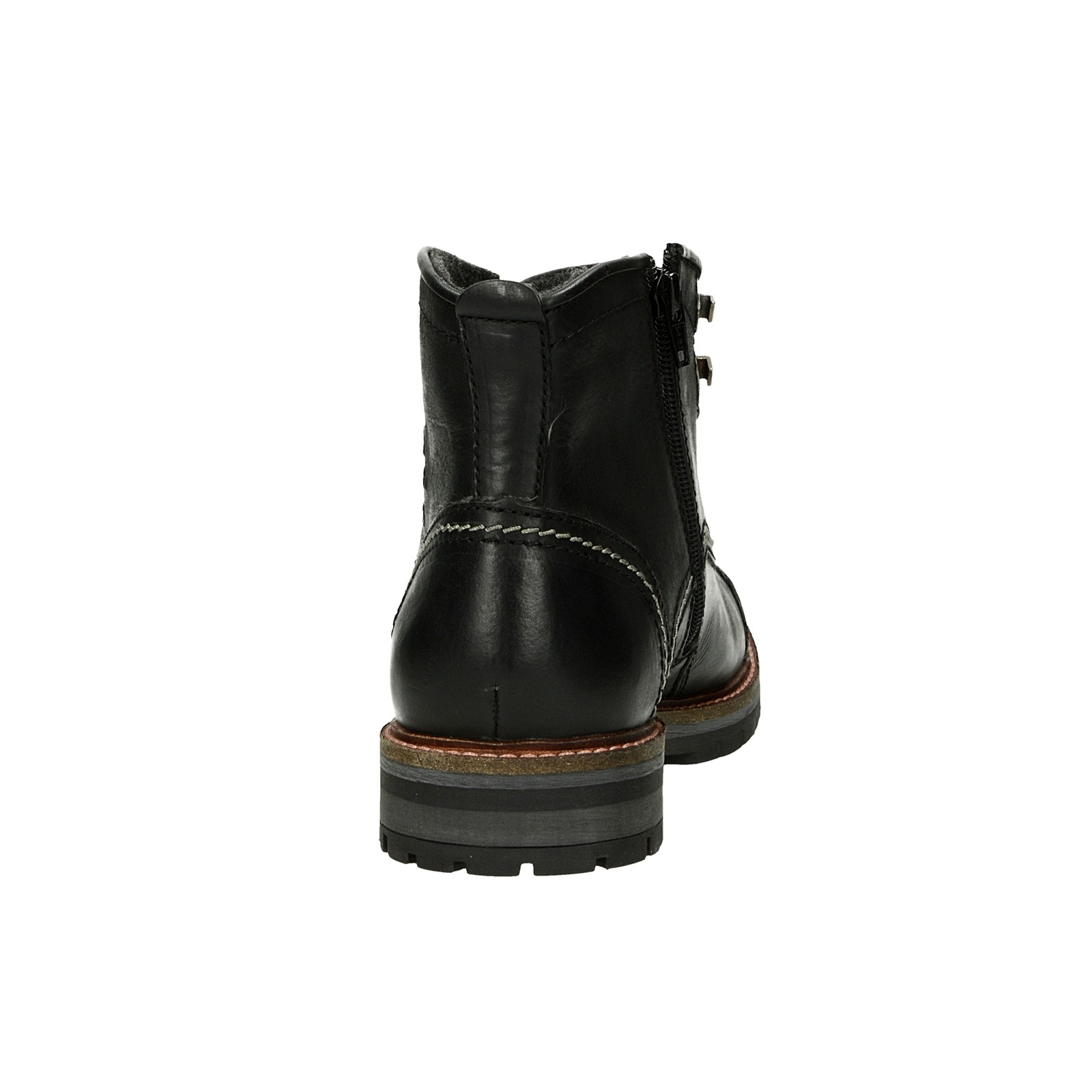 ... Bugatti pánska kožená členková obuv na zips - čierna ... 842cd3c823c