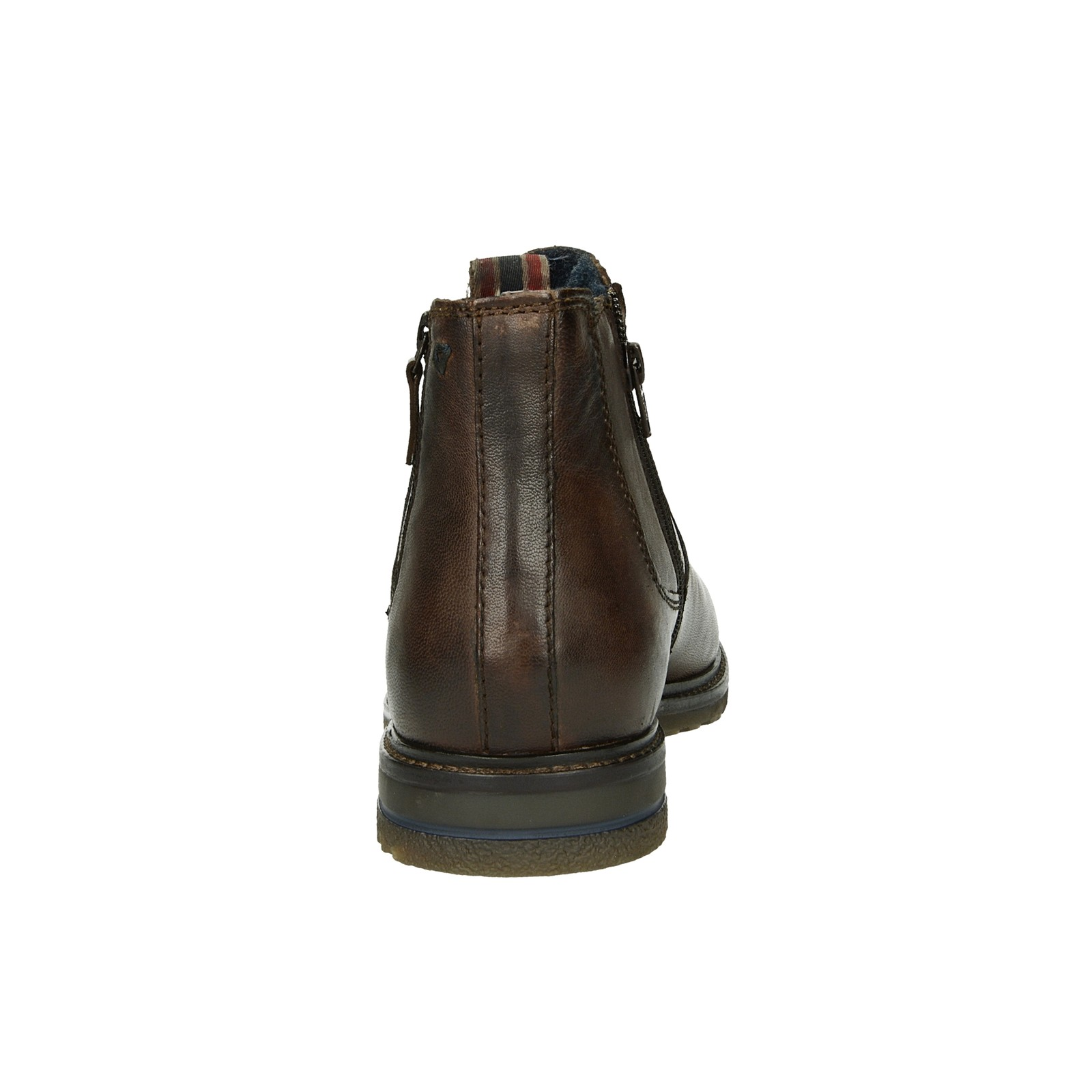 0f64ff9046f06 Bugatti pánska štýlová kožená členková obuv - tmavohnedá | 321-61830 ...