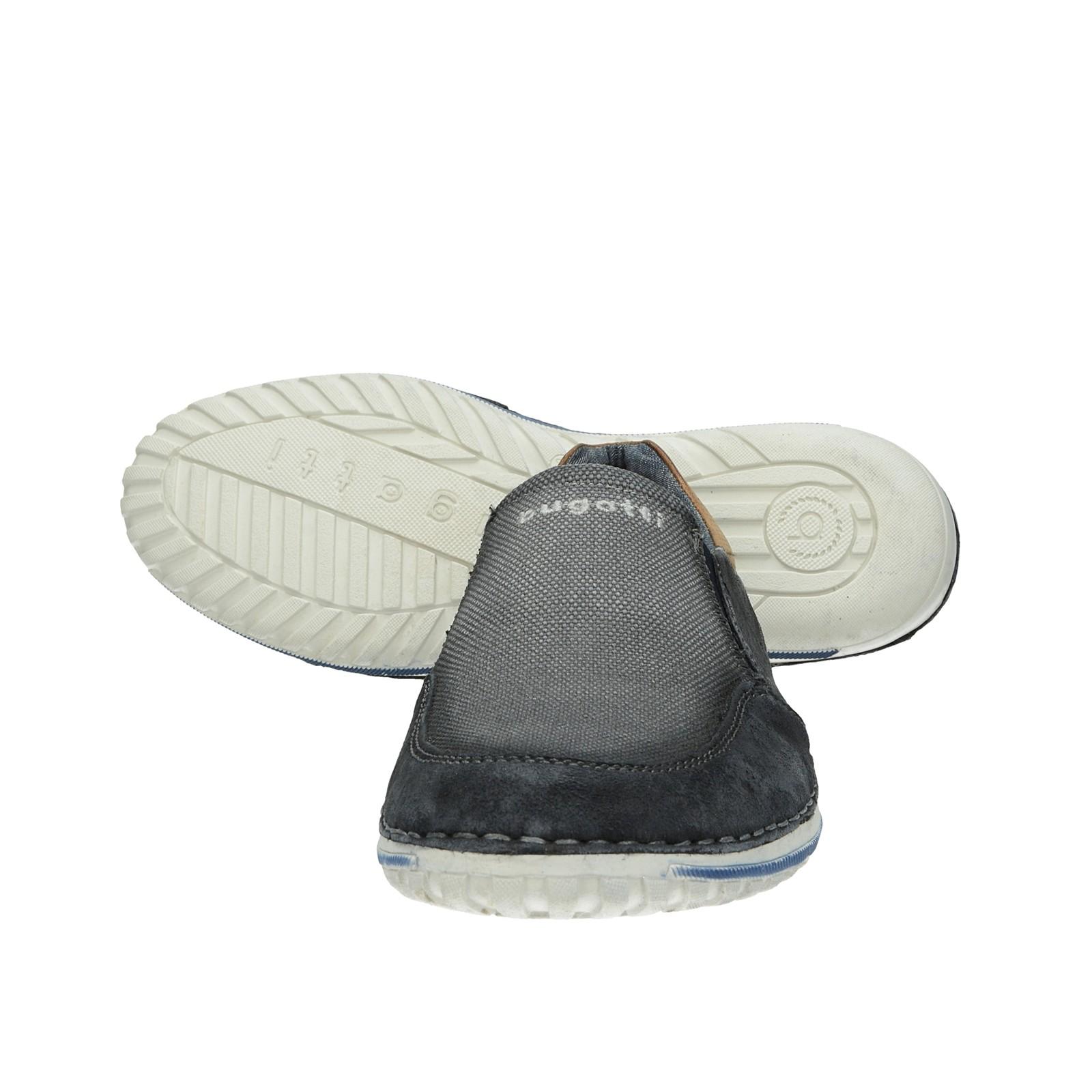 Bugatti pánske pohodlné poltopánky - šedé