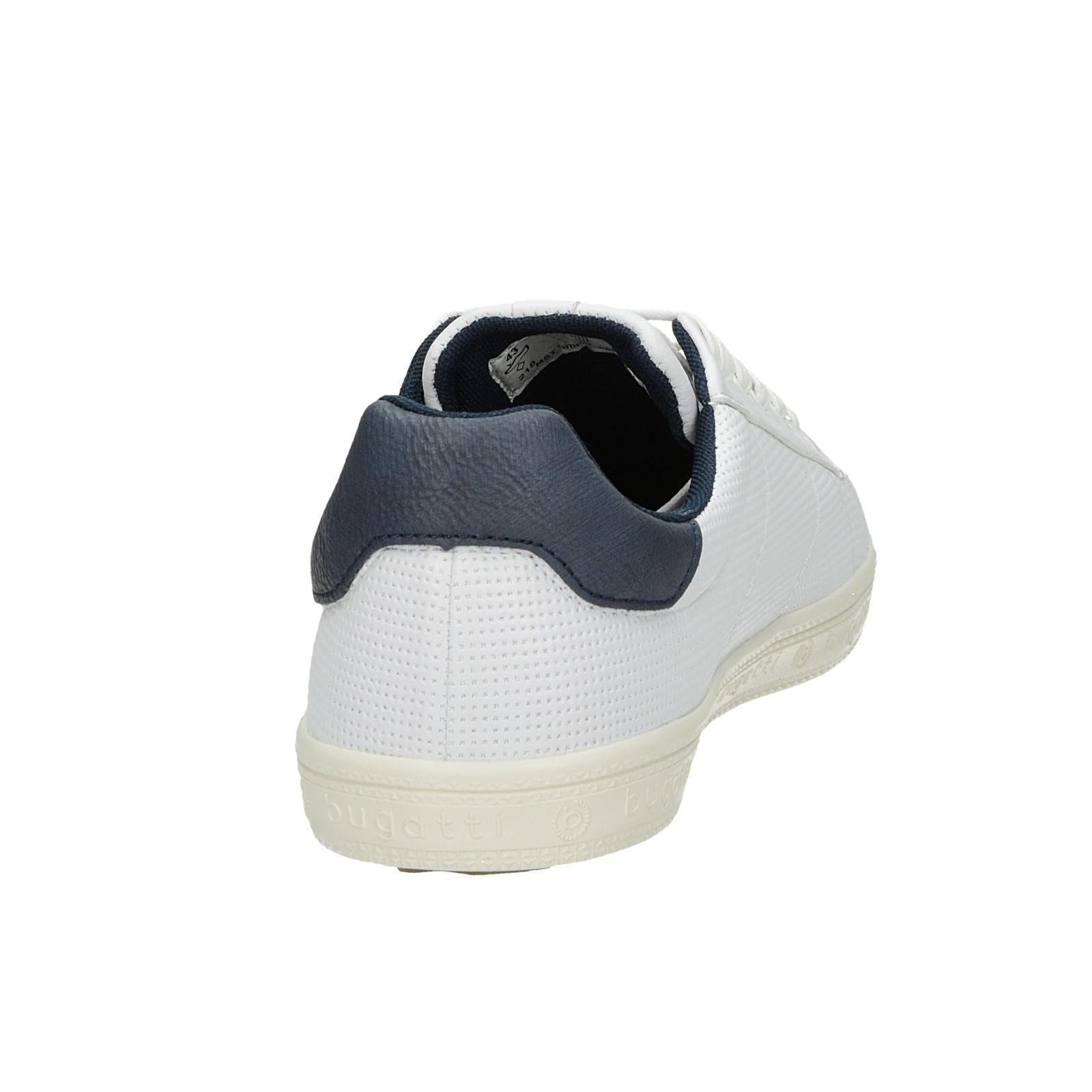 Bugatti pánske štýlové tenisky - biele