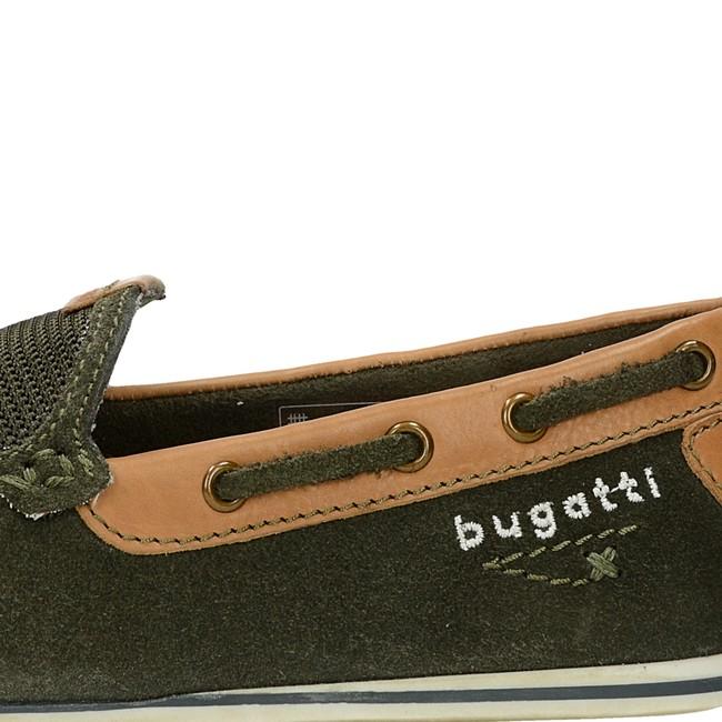 Bugatti pánske kožené mokasíny - olivové
