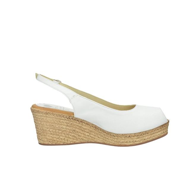 16a1c3e3221c ... Marila dámske elegantné sandále na klinovej podrážke - biele ...