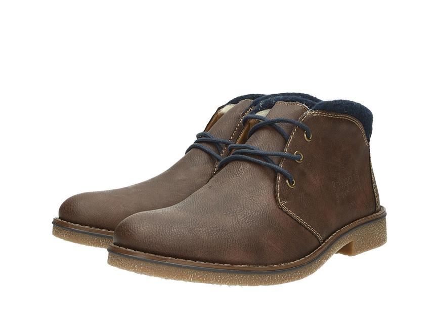 Rieker pánska módna členková obuv - hnedá ... a4ec3c4d2d0