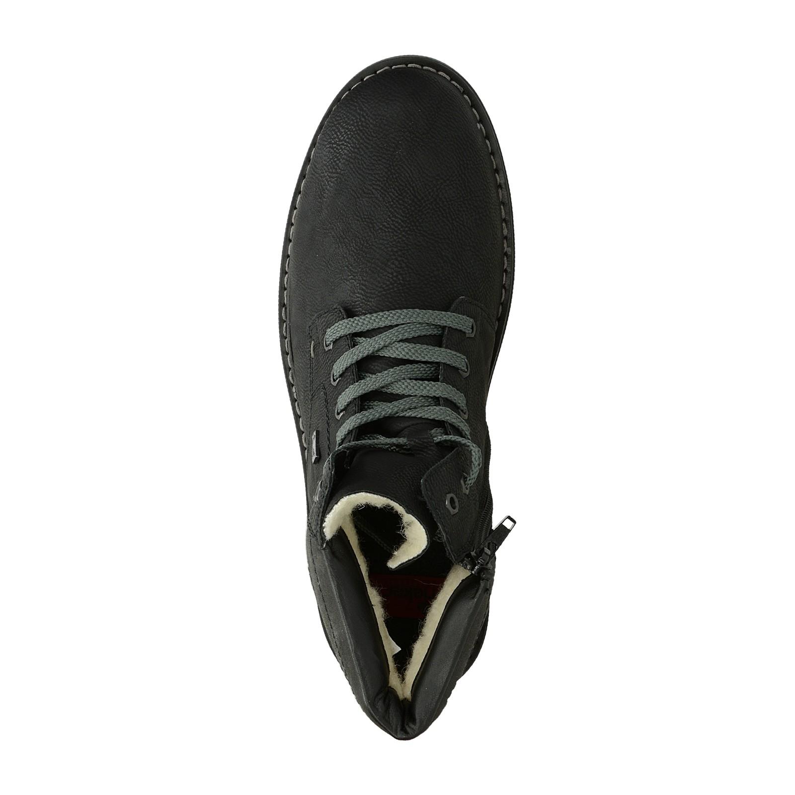 Rieker pánske čižmy na zips - čierne