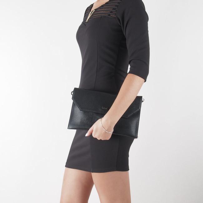 6820506ce10d8 Robel dámska elegantná kabelka - čierna   3463-BLK www.robel.sk