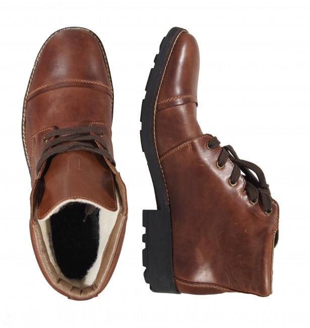 4d79d71f79d3 Rieker pánske zimné členkové topánky - hnedé ...