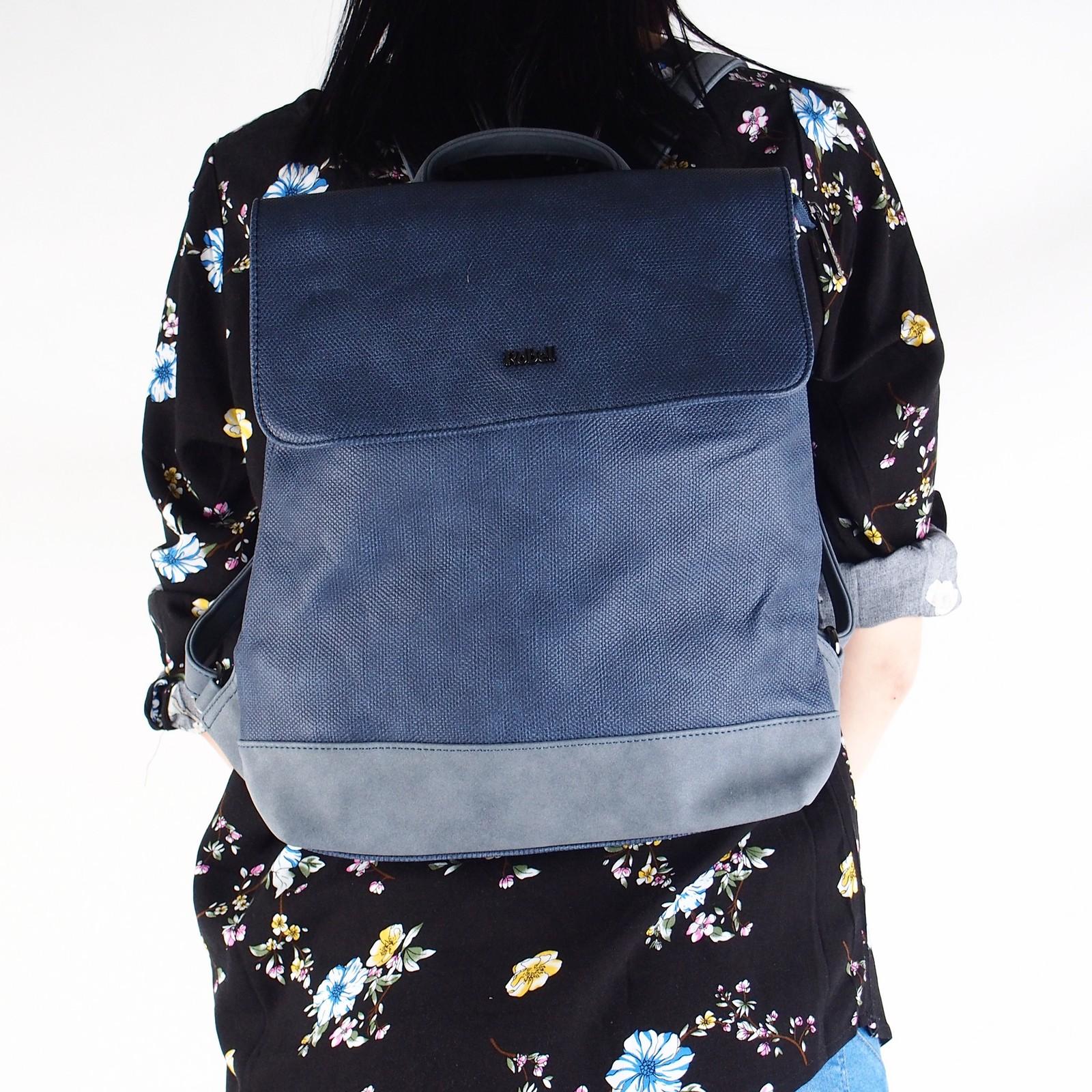 Robel dámsky štýlový ruksak - modrý ... ff90d689eb