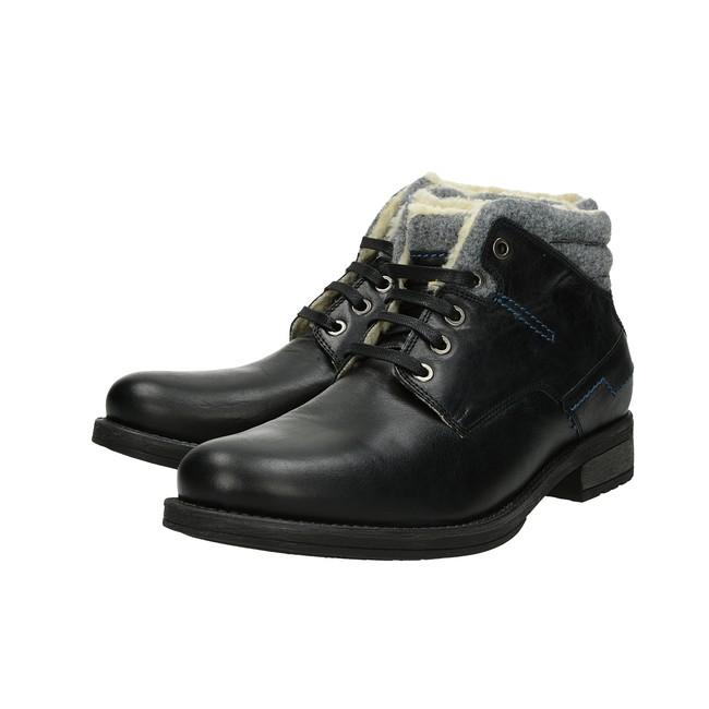 25f3fbe65 Robel pánska módna členková obuv - čierna   3760-BLK www.robel.sk