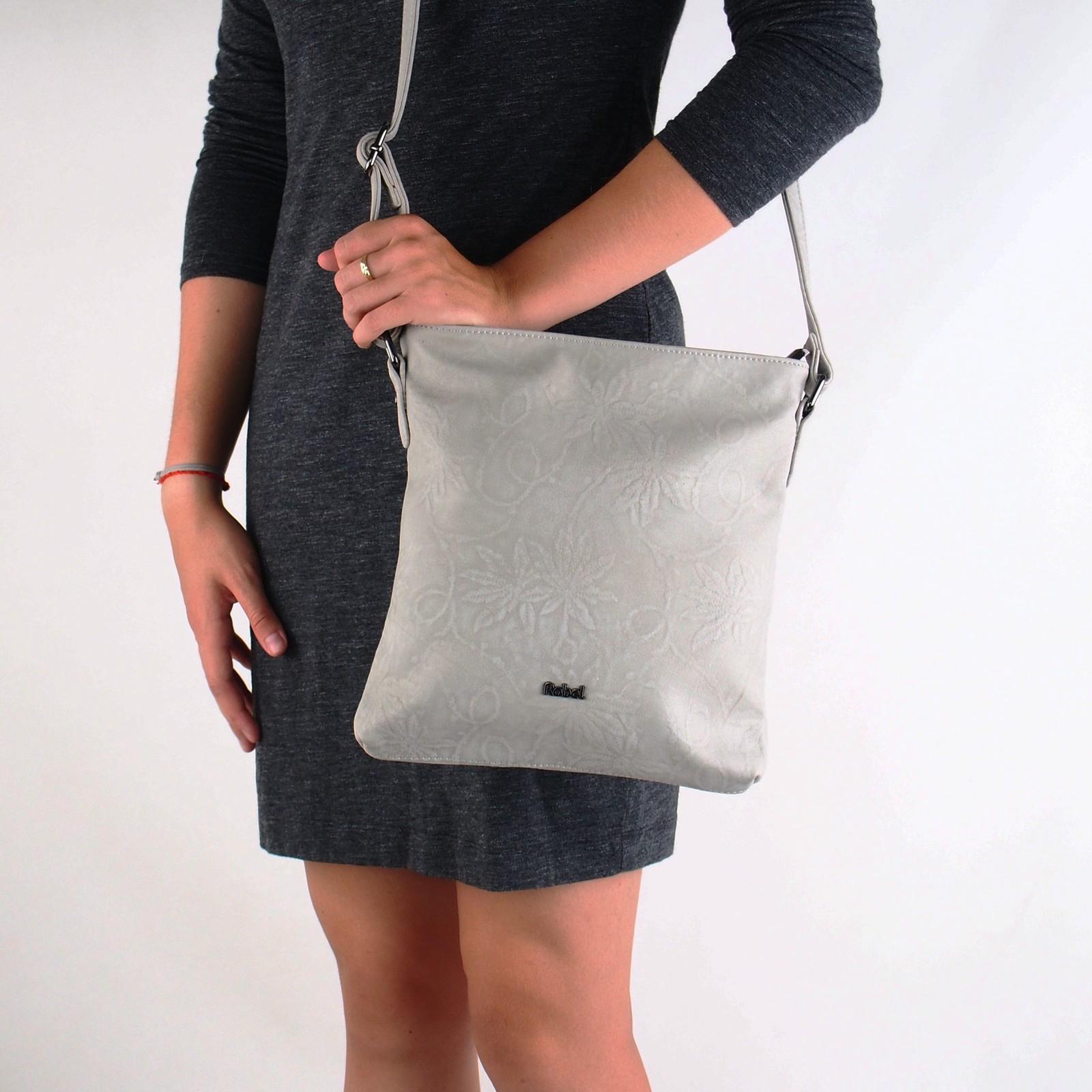 Robel dámska štýlová crossbody kabelka - šedá