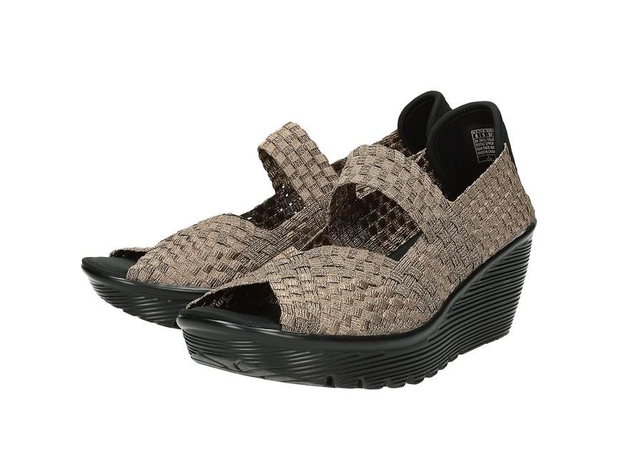 1cf5d7db2a Skechers dámske vysoké sandále - zlaté ...