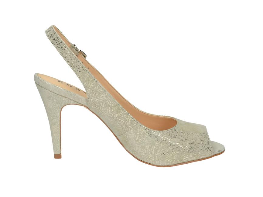 7705b8fa51e1 ... Robel dámske sandále na vysokom podpätku - šedé ...