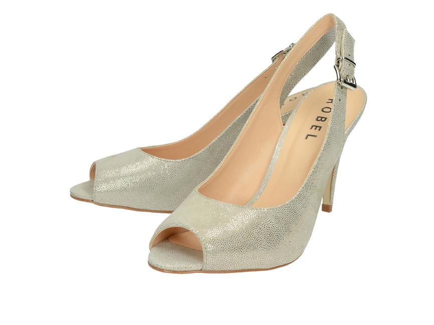 643ce8496283 Robel dámske sandále na vysokom podpätku - šedé ...