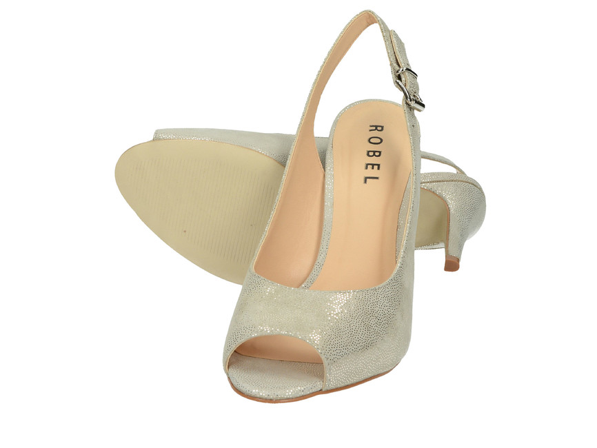 Robel dámske sandále na vysokom podpätku - šedé ... 392f6753d68