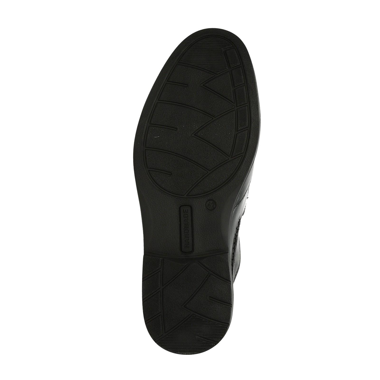 Robel pánske kožené poltopánky - čierne