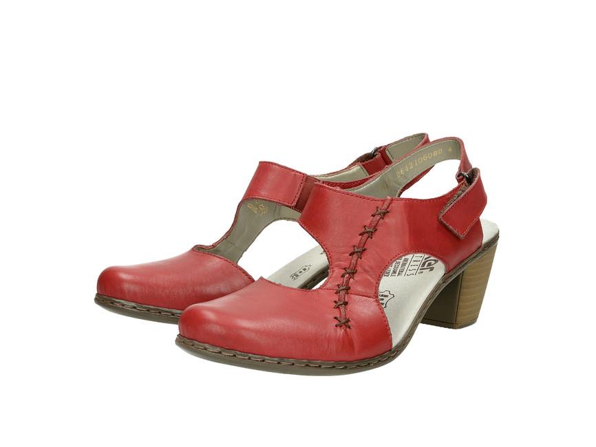 c414b1e621ec5 Rieker dámske sandále - červené   4095033-ROSSO www.robel.sk