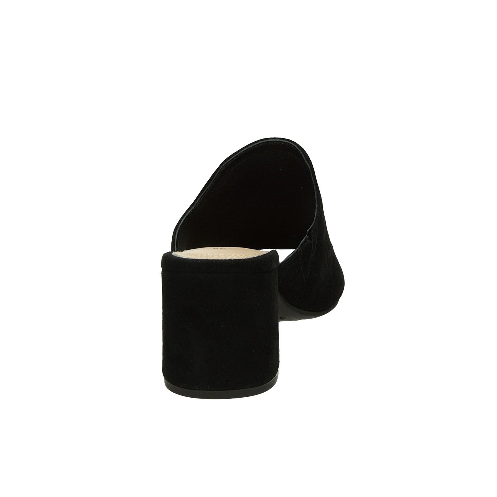 Bugatti dámske semišové šľapky na podpätku - čierne