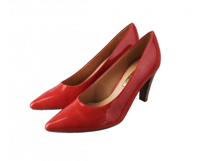 8e5a0c3c982c Gabor dámske špicaté lodičky - červené ...