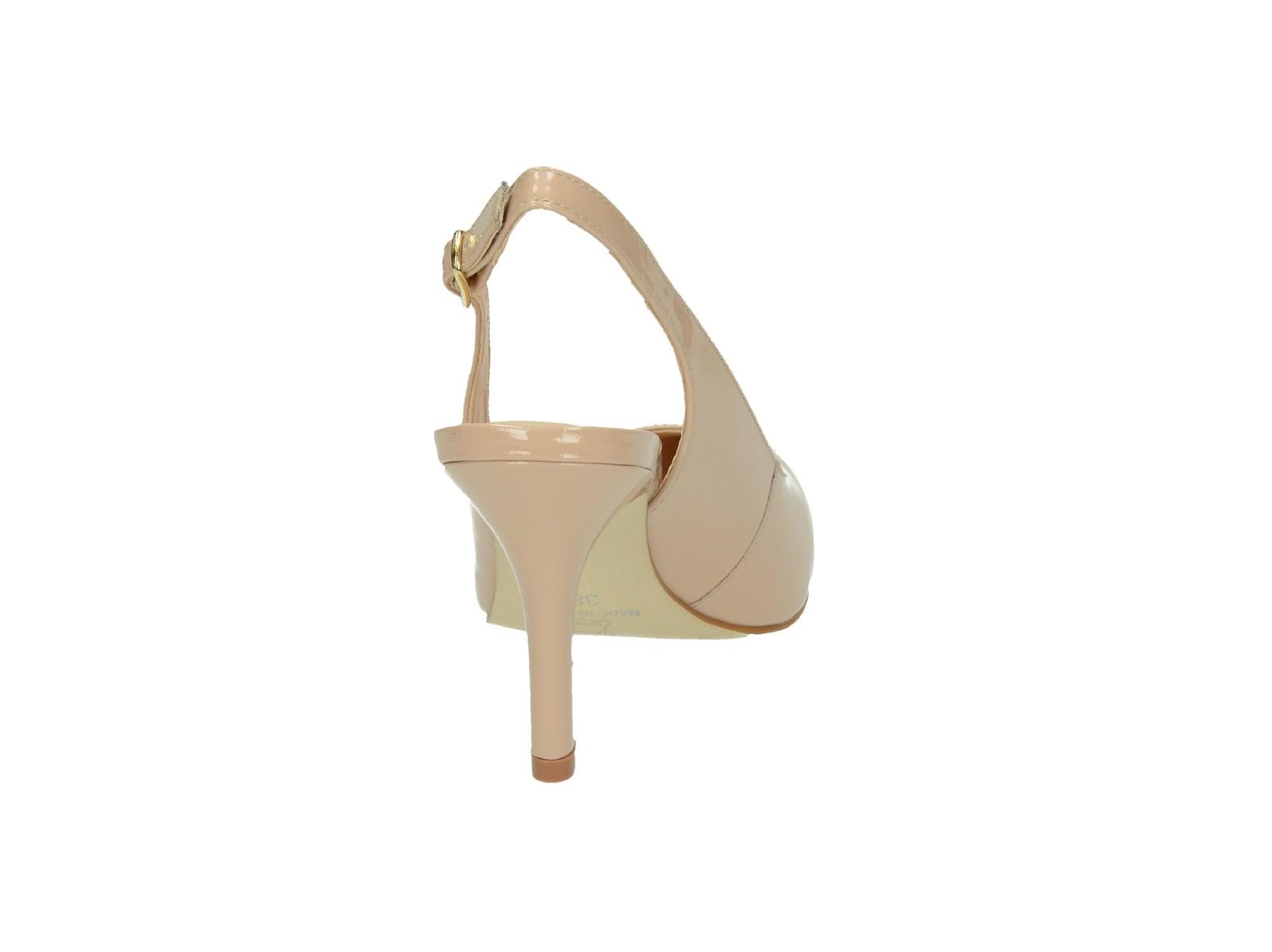 Robel dámske kožené sandále - červené