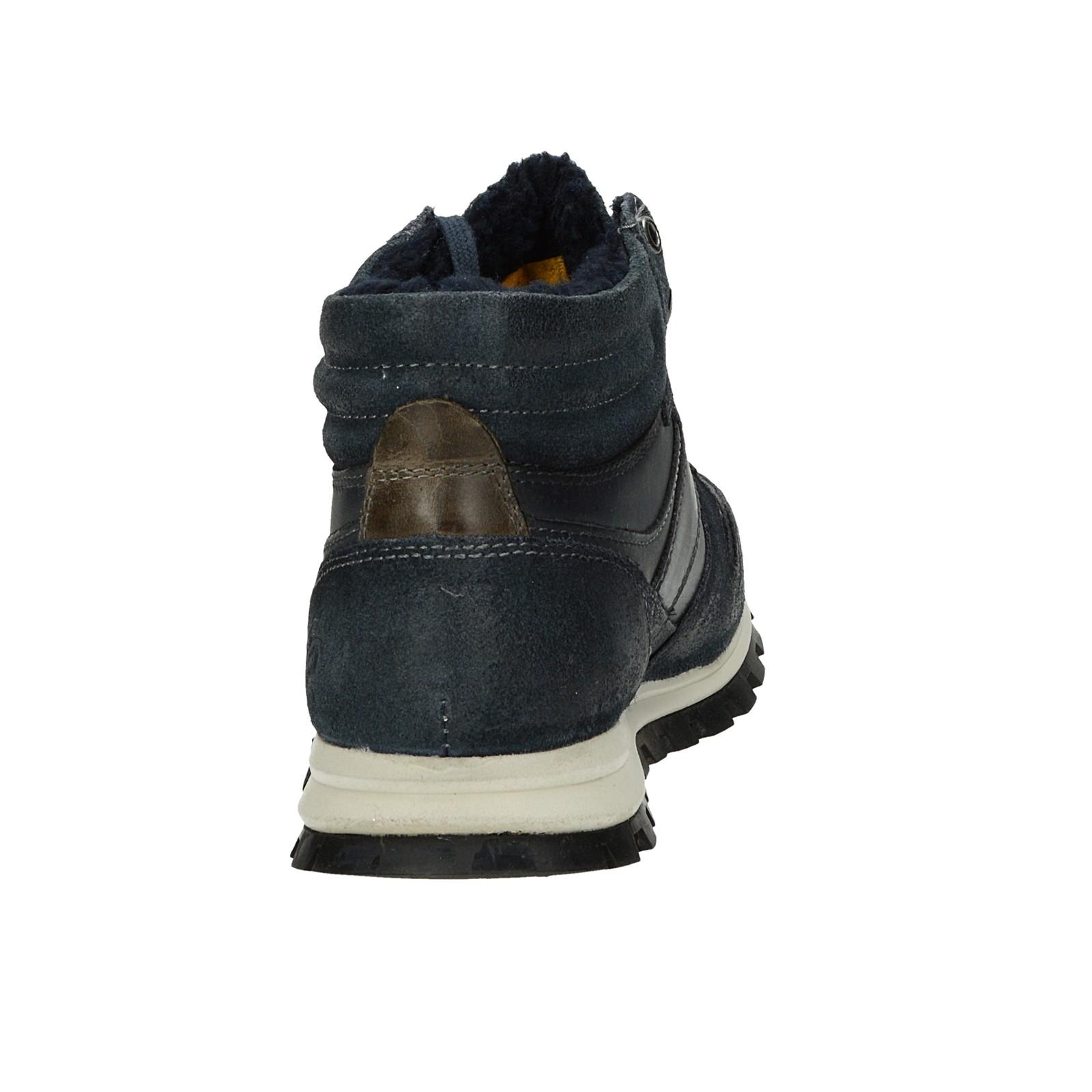 Dockers pánska kožená členková obuv - tmavomodrá