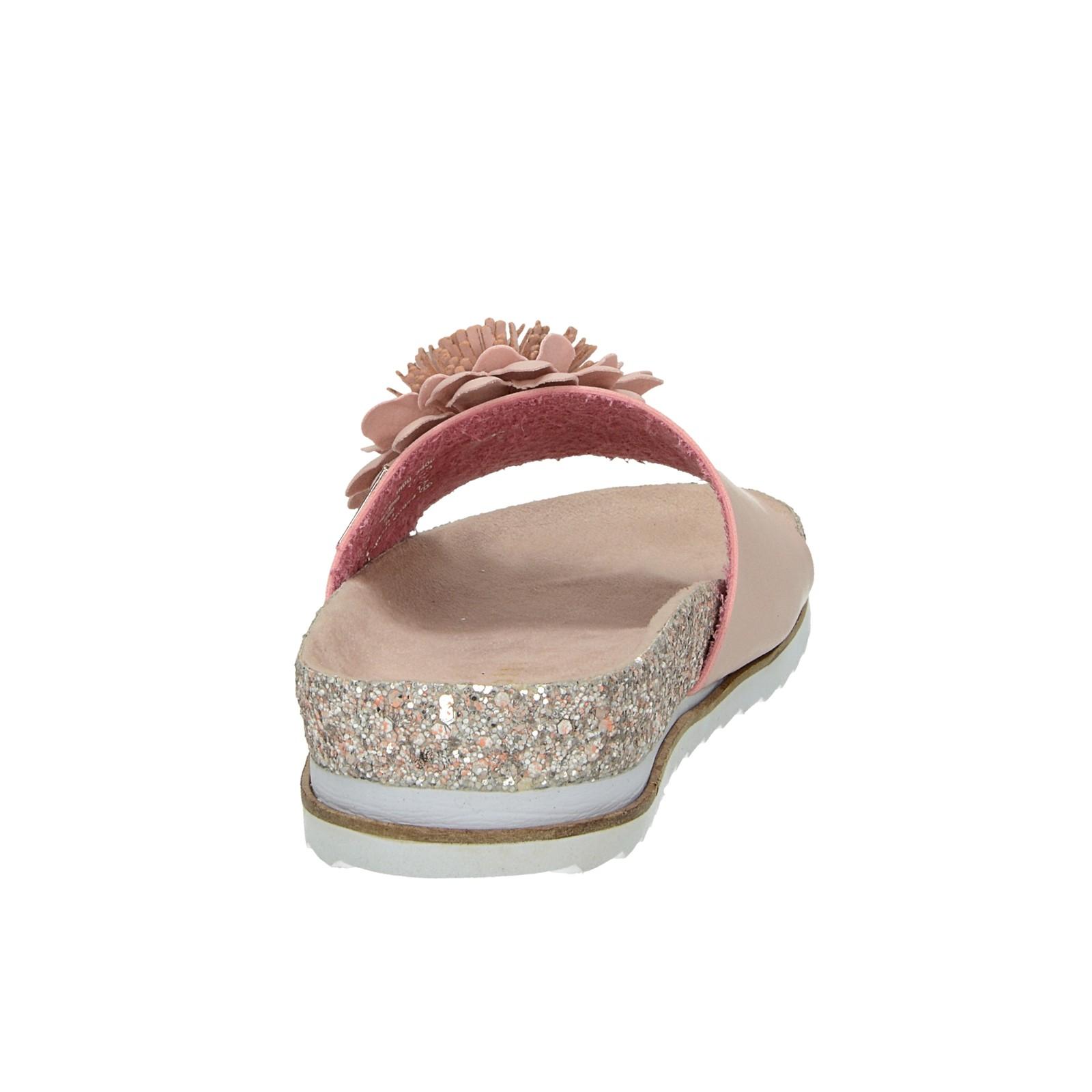 Bugatti dámske štýlové šľapky s trblietkami - ružové