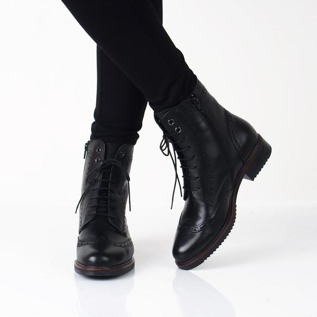 6a1cd0ac0c871 Robel dámske kožené nízke čižmy - čierne | 4215-BLK www.robel.sk