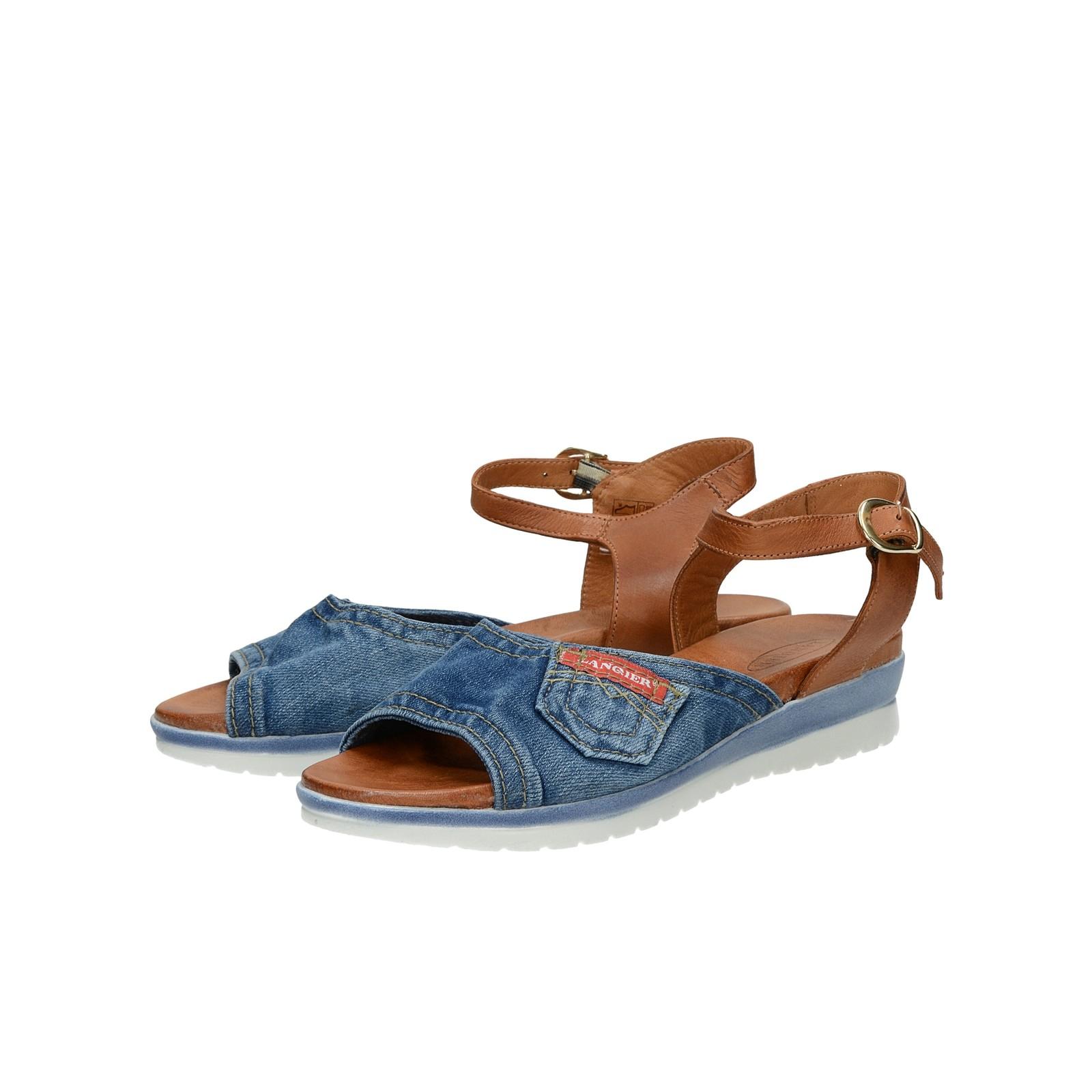 3fa2ab5e8e90 Lanqier dámske štýlové sandále s remienkom - modré ...