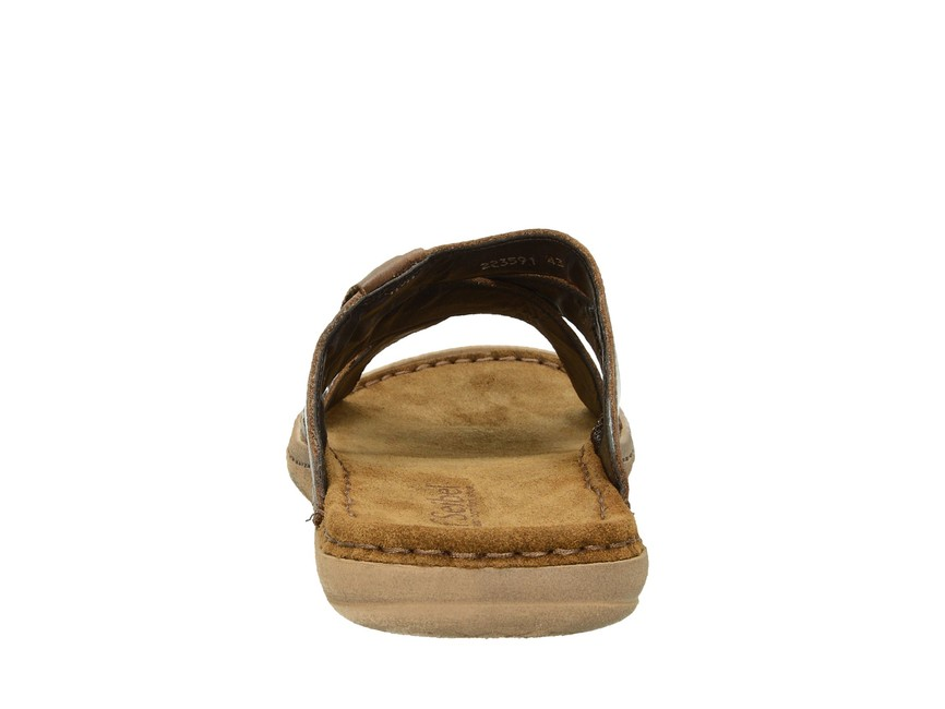 482844a98 Josef Seibel pánske pohodlné kožené šľapky -hnedé | 43229-BRAZIL www ...