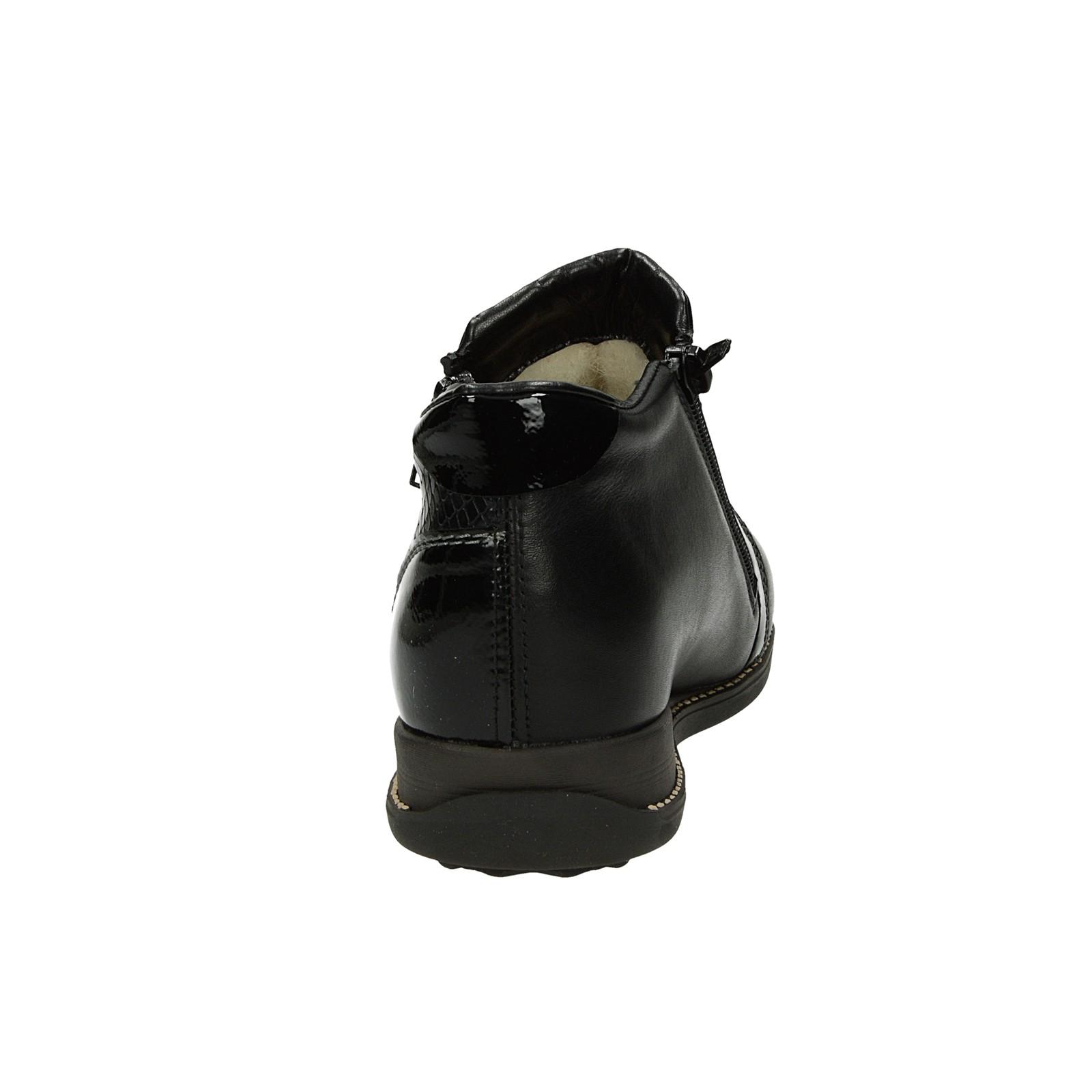 ... Rieker dámske štýlové kotníky na klinovej podrážke - čierne ... c06d5653852