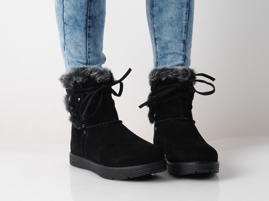 Skeches dámske zateplené čižmy - čierne ... 18bffb435fd