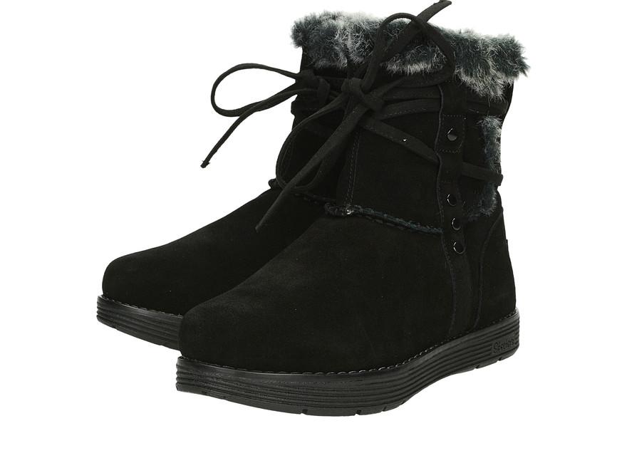 Skeches dámske zateplené čižmy - čierne ... 08faca5c642