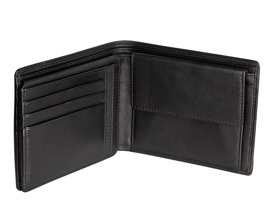 Bugatti pánska kožená peňaženka - čierna