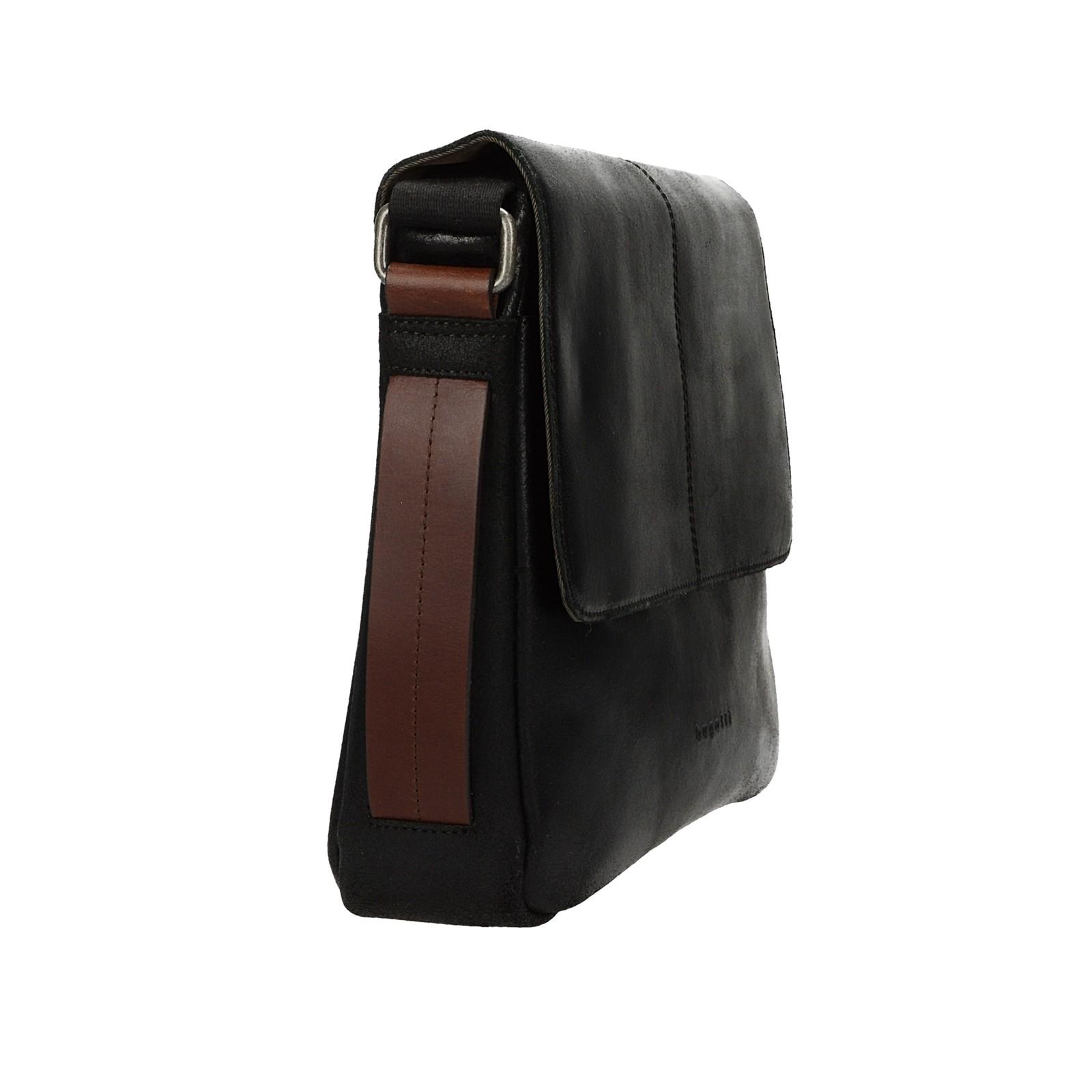 dc578da0aae ... Bugatti pánska kožená laptopová taška - čierna ...