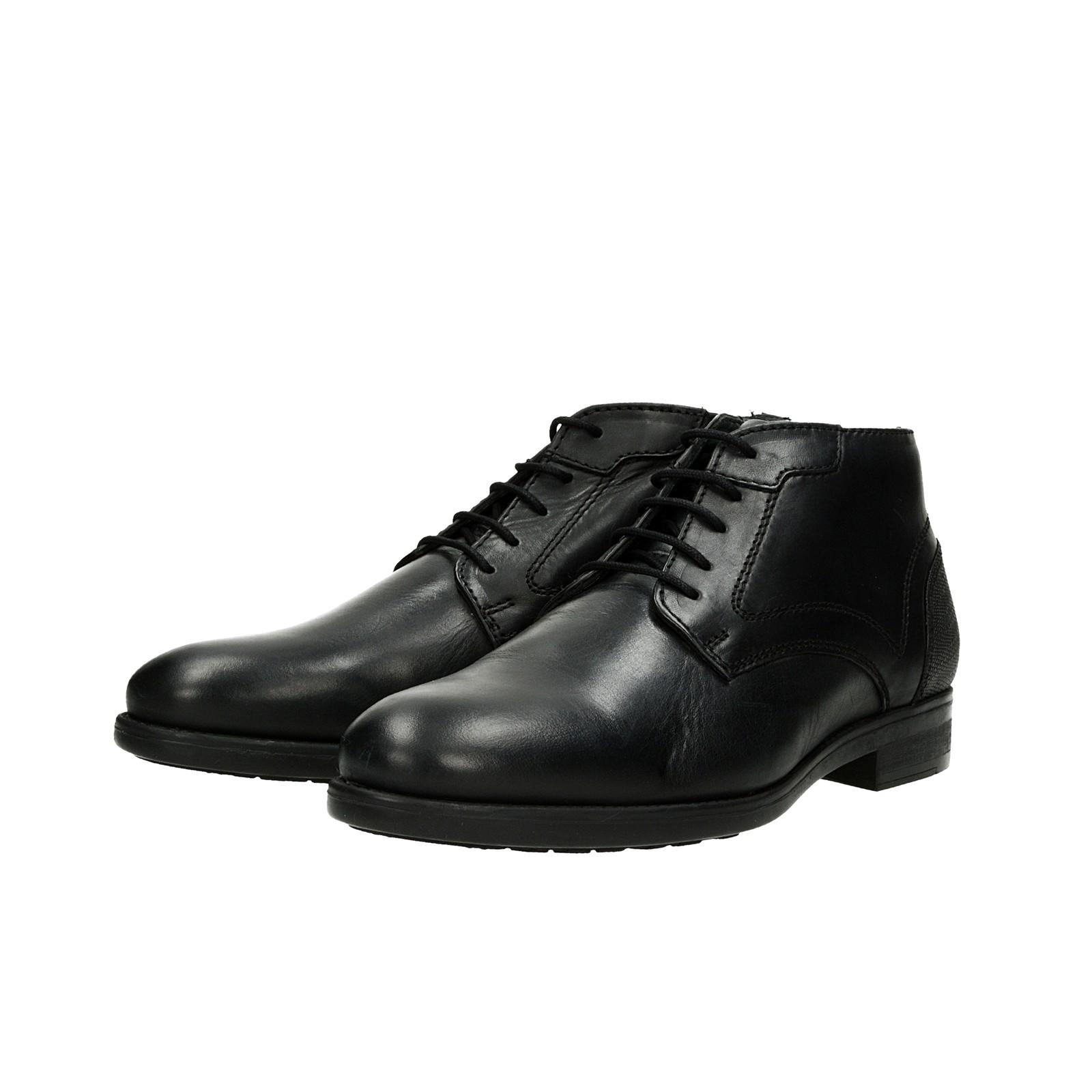 b9f4ca79ed66 ... Robel pánska kožená členková obuv - čierna ...