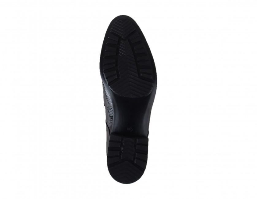 51494b0e9734 Conhpol pánske extravagantné topánky - čierne ...