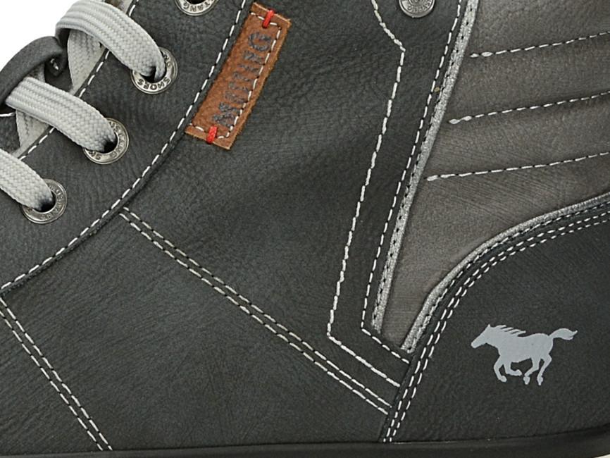 b37bafb19c41 ... Mustang dámske členkové tenisky - šedé ...